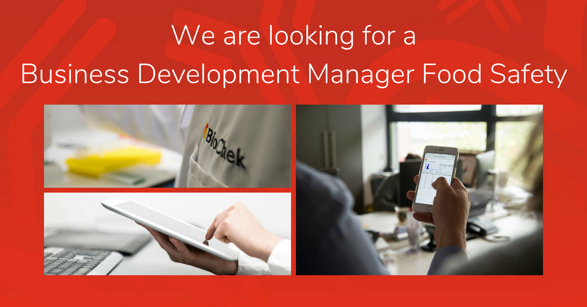 Job Vacancy: Business Development Manager Food Safety