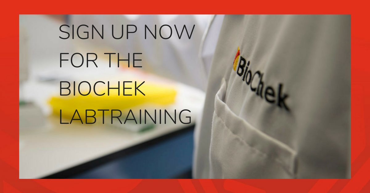 Sign up now: BioChek Labtraining October 2018