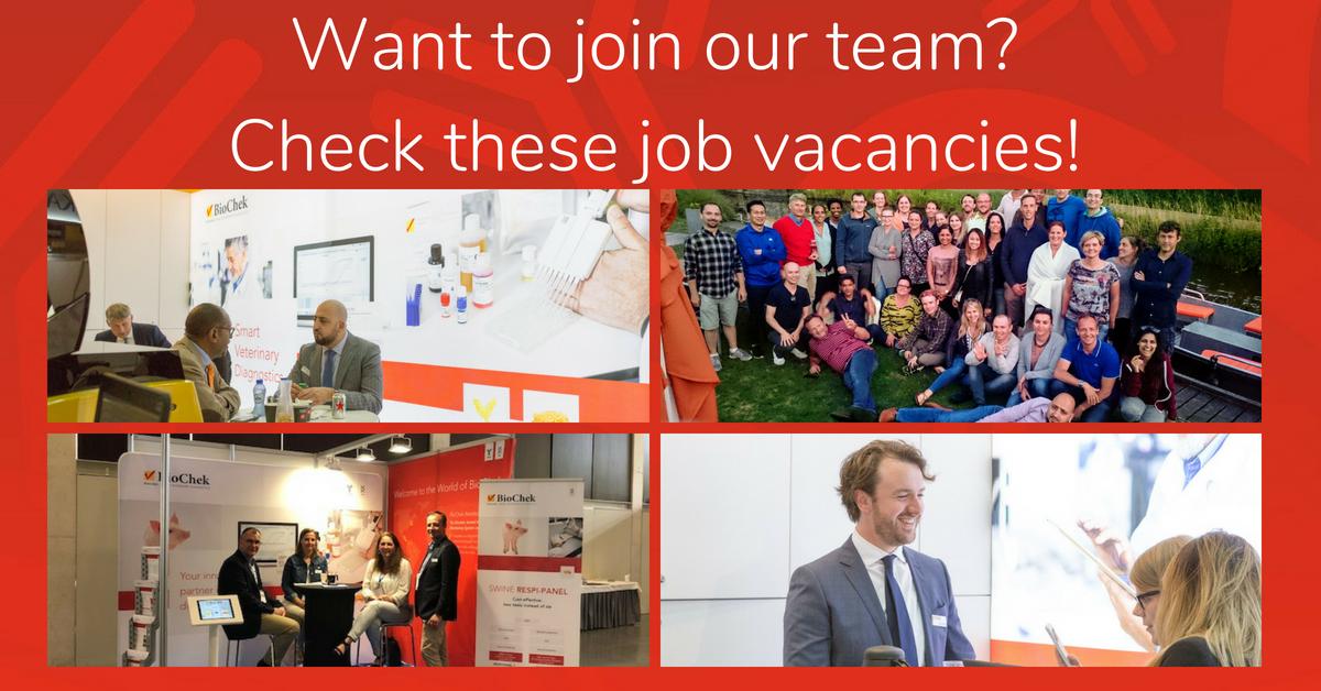 Join the BioChek team! We have three job vacancies