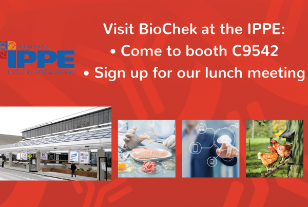 BioChek at the IPPE: booth AND lunch meeting